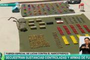 Oruro: FELCN secuestra sustancias controladas, armamento, municiones y aprehende a dos personas en Challapata